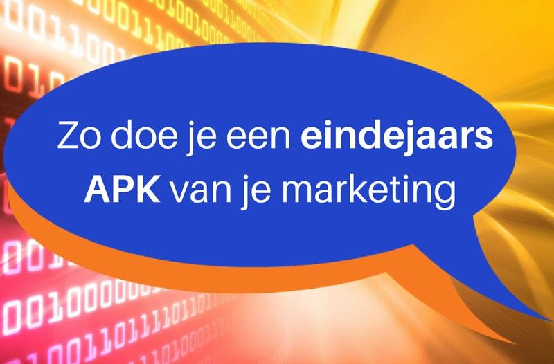 Zo Doe Je Een Eindejaars APK Van Je (social Media) Marketing