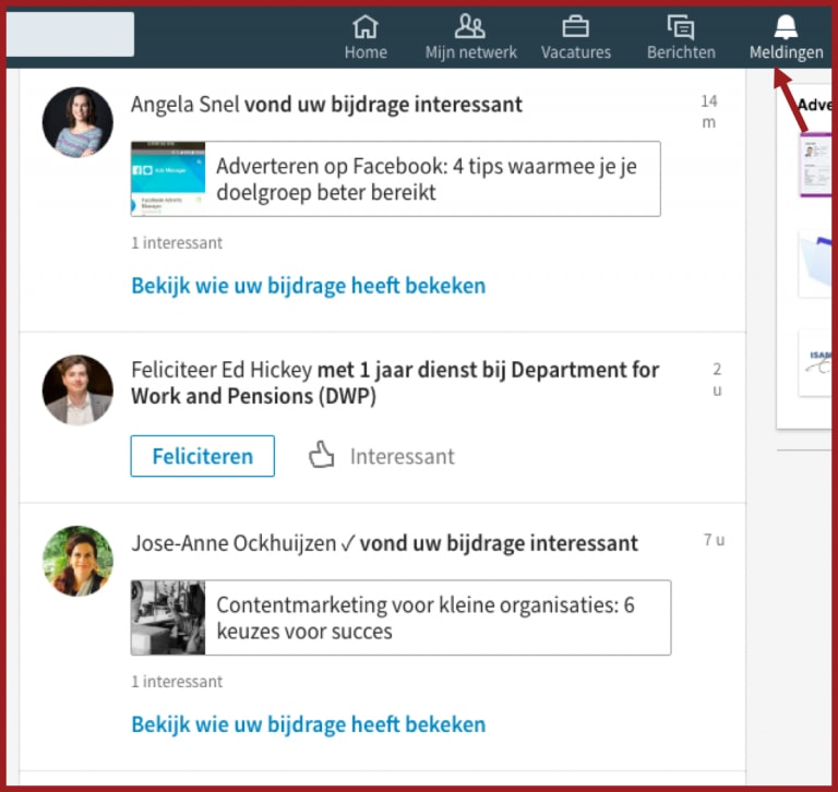 zichtbaarheid LinkedIn