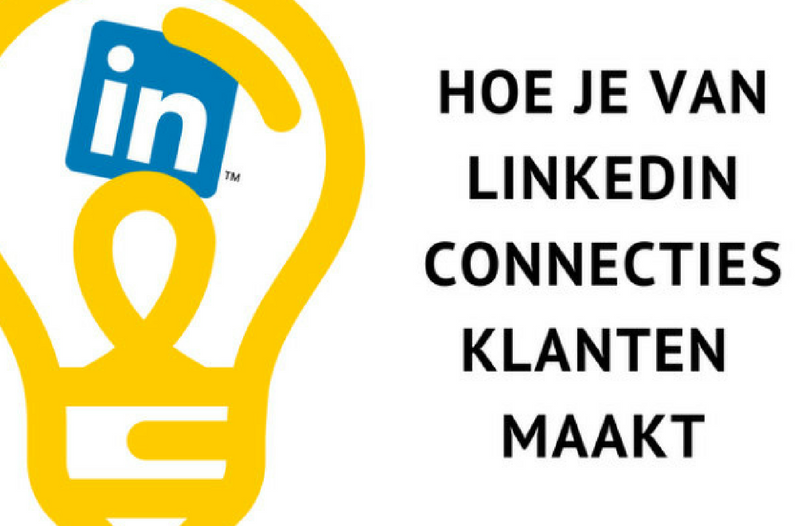 van LinkedIn connecties klanten maken - afbeelding van gloeilamp en LinkedIn logo | Anneke van der Voort-Kruk, PRminded | Adviseur Social Media Plan | online profileren | LinkedIn trainer | voor ZZP en MKB | Bavel, Breda, Tilburg