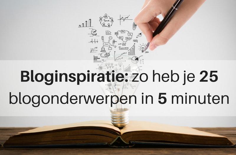 Bloginspiratie zo heb je 25 onderwerpen in 5 minuten - afbeelding van gloeilamp en onderwerpen uitwerken | Anneke van der Voort-Kruk, PRminded | Adviseur Social Media Plan | online profileren | LinkedIn trainer | voor ZZP en MKB | Bavel, Breda, Tilburg