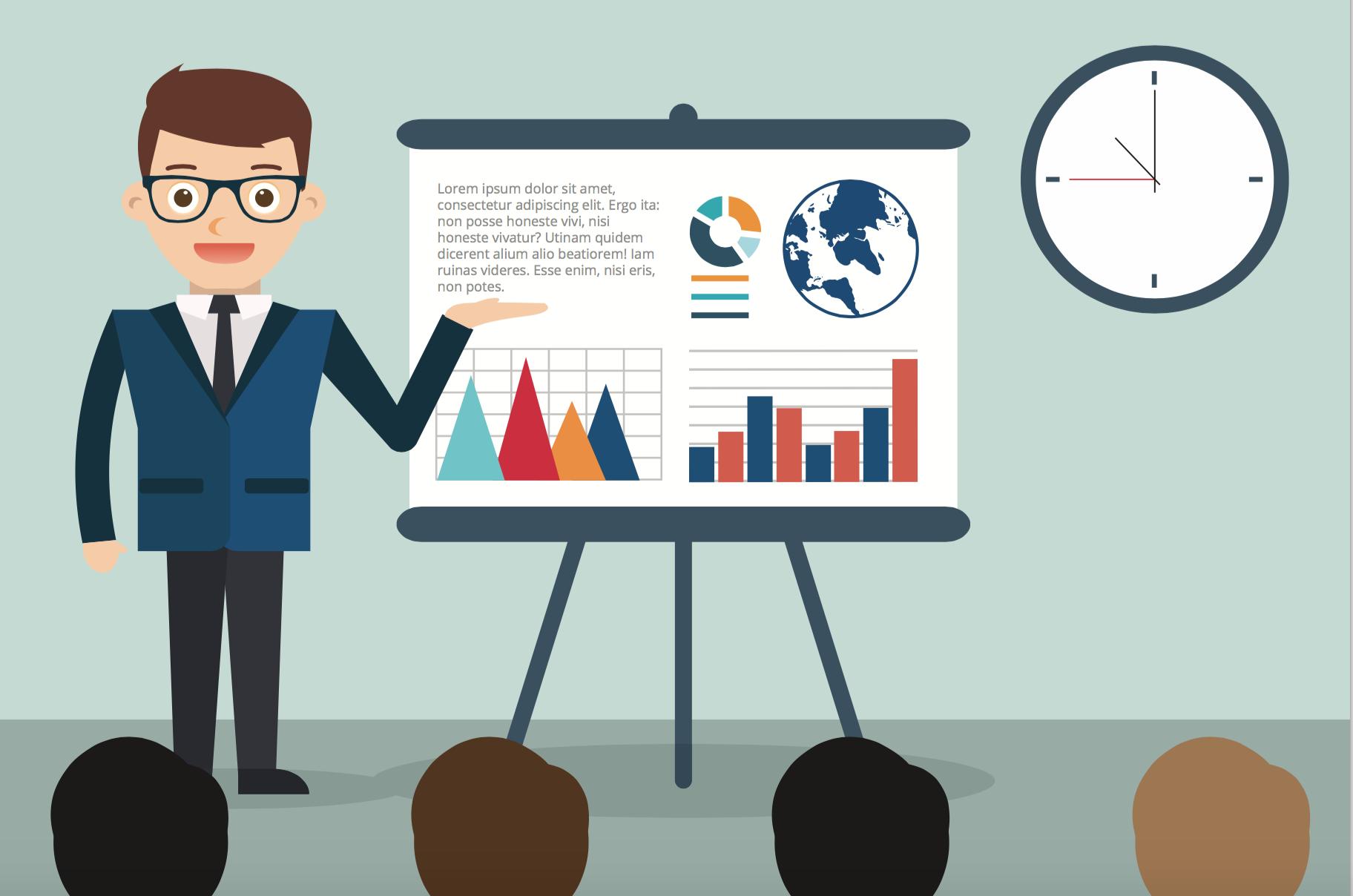 Maak blogberichten van presentaties - afbeelding van man die presentatie geeft | Anneke van der Voort-Kruk, PRminded | Adviseur Social Media Plan en Strategie | LinkedIn trainer | voor ZZP en MKB | Bavel, Breda, Tilburg