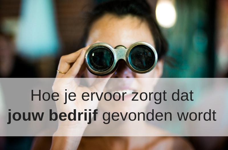 Dame met verrekijker bij blog 'goed gevonden worden op social media' | Anneke van der Voort-Kruk, PRminded | Adviseur Social Media Plan | online profileren | LinkedIn trainer | voor ZZP en MKB | Bavel, Breda, Tilburg