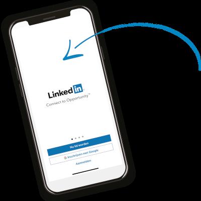 Afbeelding van een telefoon met een LinkedIn screenshot | Anneke van der Voort-Kruk, PRminded | Adviseur Social Media Plan | online profileren | LinkedIn trainer | voor ZZP en MKB | Bavel, Breda, Tilburg