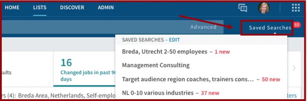 Screenshot Nieuwe meldingen leads Sales Navigator | PRminded, LinkedIn trainer in Bavel, Breda en Tilburg | personal brandcing coach voor MKB en ZZP