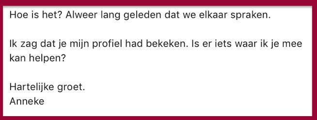 Voorbeeld LinkedIn bericht PRminded | LinkedIn trainer & personal branding coach Bavel, Breda Tilburg