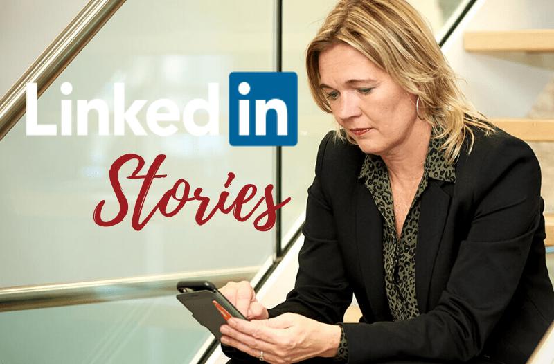 10 meest gestelde vragen over LinkedIn stories | Anneke van der Voort met telefoon | PRminded | LinkedIn trainer & personal branding op LinkedIn | Bavel, Breda, Tilburg