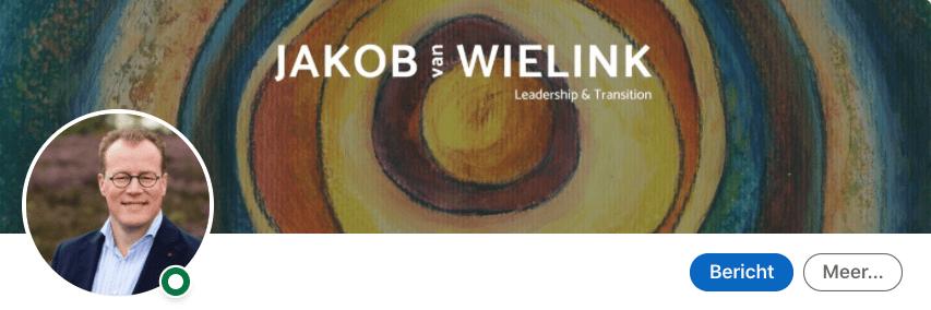 LinkedIn cover banner van Jakbo van Wielink, in blog 4 voorbeelden van authenticiteit op LinkedIn | geschreven door Anneke van der Voort, PRminded | LinkedIn trainer, personal branding, Breda, Tilburg, Bavel